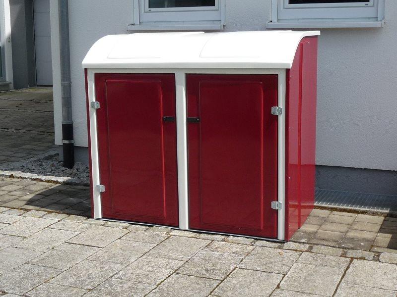 Serina MUlltonnenbox Holz 240 L ~ Mülltonnenverkleidung Mülltonnenverkleidung Weide Pictures to pin on