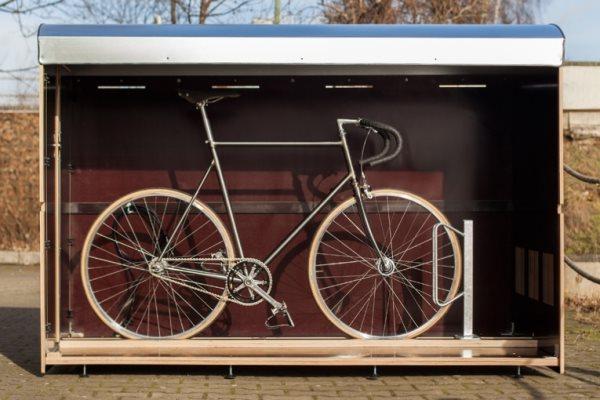 holz stahlblech fahrradhaus f r 2 fahrr der. Black Bedroom Furniture Sets. Home Design Ideas