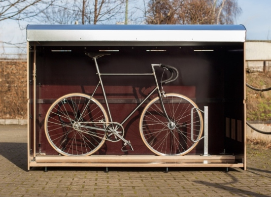 fahrradgarage f r 1 fahrrad. Black Bedroom Furniture Sets. Home Design Ideas
