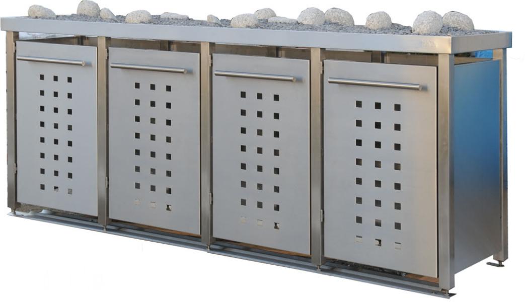 Super Mülltonnenboxen und mehr von Tonnenhaus LO04