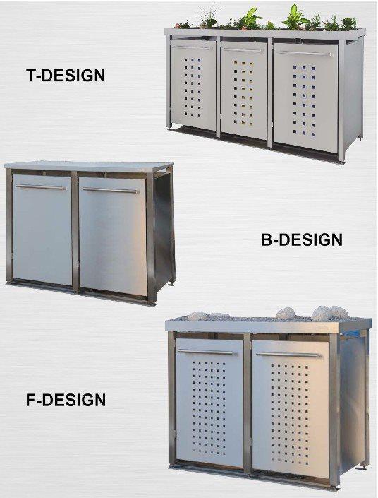 m lltonnenbox mit granitpfosten und gr ndach f r 3. Black Bedroom Furniture Sets. Home Design Ideas