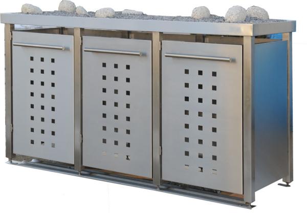 edelstahl m lltonnenboxen m lltonnenbox fahrradbox rollstuhlgarage. Black Bedroom Furniture Sets. Home Design Ideas
