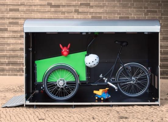 kiwabo fahrradboxen m lltonnenbox fahrradbox rollstuhlgarage. Black Bedroom Furniture Sets. Home Design Ideas