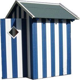 das besondere m lltonnenhaus in strandkabinenoptik dieses einzigartige h uschen bekommen sie. Black Bedroom Furniture Sets. Home Design Ideas
