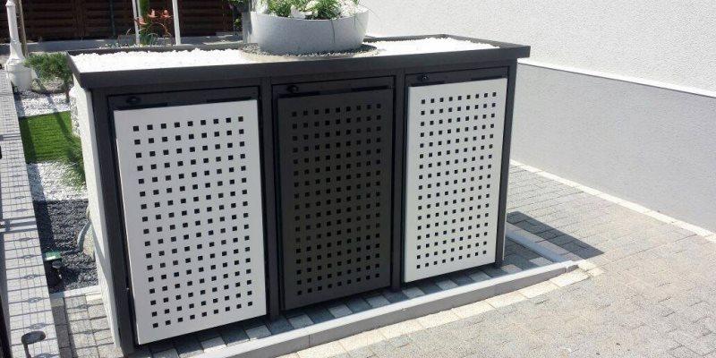 metall m lltonnenboxen m lltonnenbox fahrradbox rollstuhlgarage. Black Bedroom Furniture Sets. Home Design Ideas
