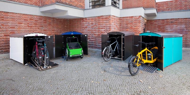 fahrradgaragen m lltonnenbox fahrradbox rollstuhlgarage. Black Bedroom Furniture Sets. Home Design Ideas