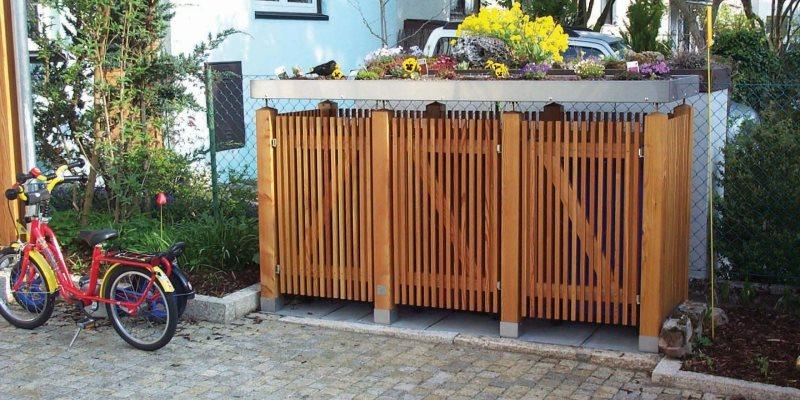 gartenakzente m lltonnenbox fahrradbox rollstuhlgarage. Black Bedroom Furniture Sets. Home Design Ideas