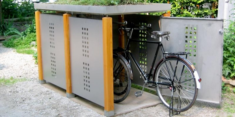 fahrradgaragen m lltonnenbox fahrradbox rollstuhlgarage. Black Bedroom Furniture Sets. Home Design Ideas