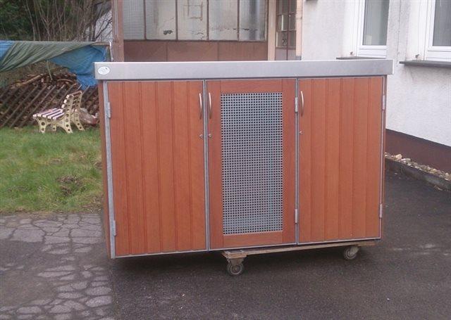 poubelle tonnenhaus f r 3 m lltonnen 120 liter. Black Bedroom Furniture Sets. Home Design Ideas